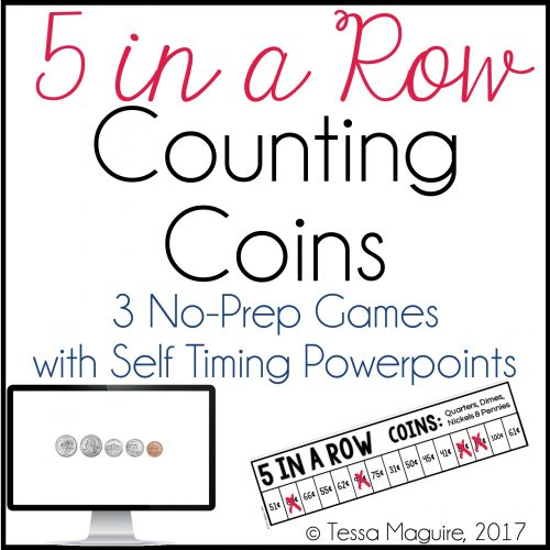 Counting coin values game