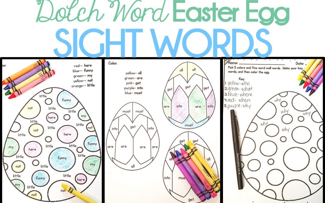 Dolch Easter Egg Sight Words
