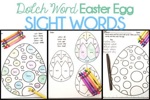 Dolch Sight Word Easter Eggs