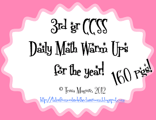 3rd Grade Common Core Math Warm Ups
