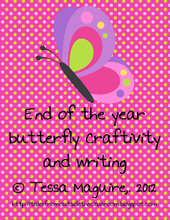 Butterfly Craftivity and Writing