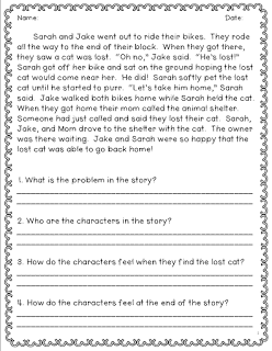 math worksheet : pqa and constructed response  tales from outside the classroom : 2nd Grade Reading Comprehension Worksheets Multiple Choice