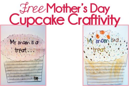 Mother's Day Cupcake Craftivity