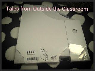 IKEA Flyt magazine boxes as book bins