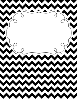 Black and white chevron binder cover