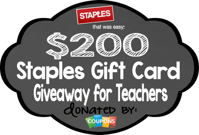 Staples Giveaway from Coupons.com