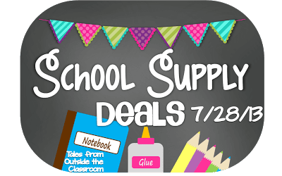 School Supply Deals Week of 7/28