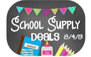 School Supply deal Week of 8/6