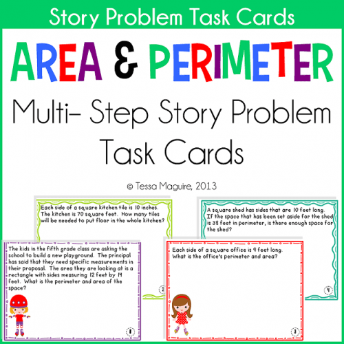 Area & Perimeter Story Problems cover