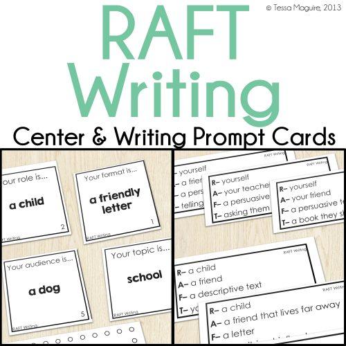RAFT Writing center cards