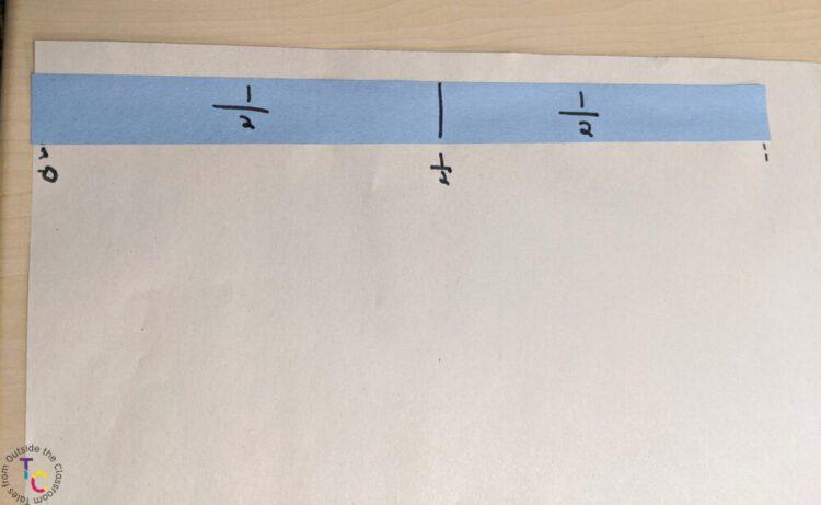 One half fraction strip