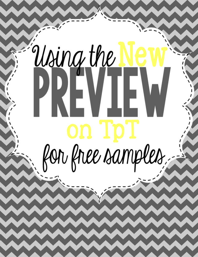Using the new TpT preview