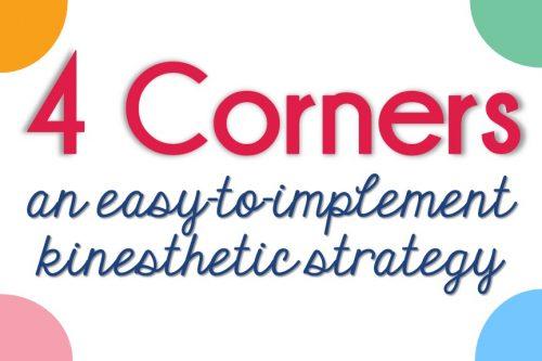 4 Corners instructional strategy