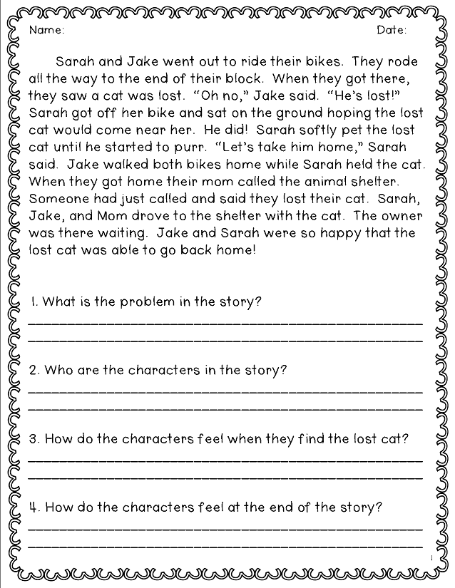 Free printable worksheets for reading comprehension 4th grade