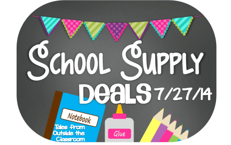 School Supply Deals- Week of 7/27/14