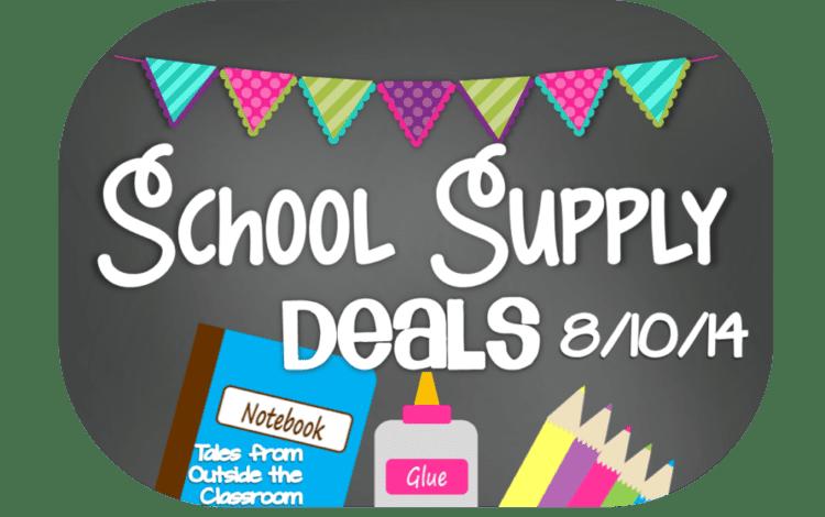 School Supply Deals- Week of 8/10/14