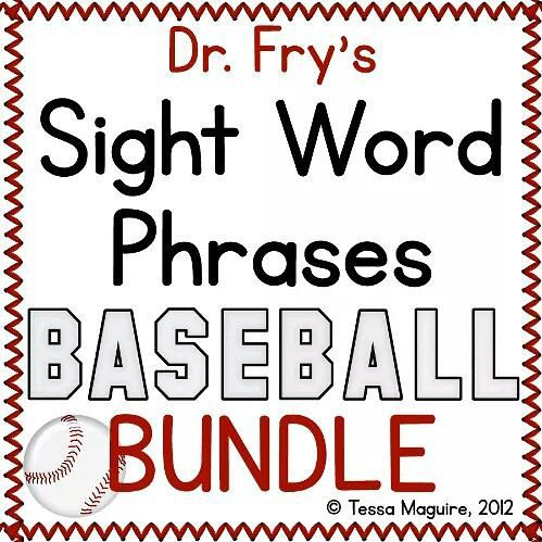Sight Word Phrase Baseball