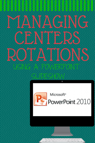 Centers with Powerpoint