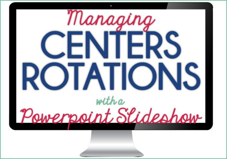 Using Powerpoint to Manage Centers Rotations