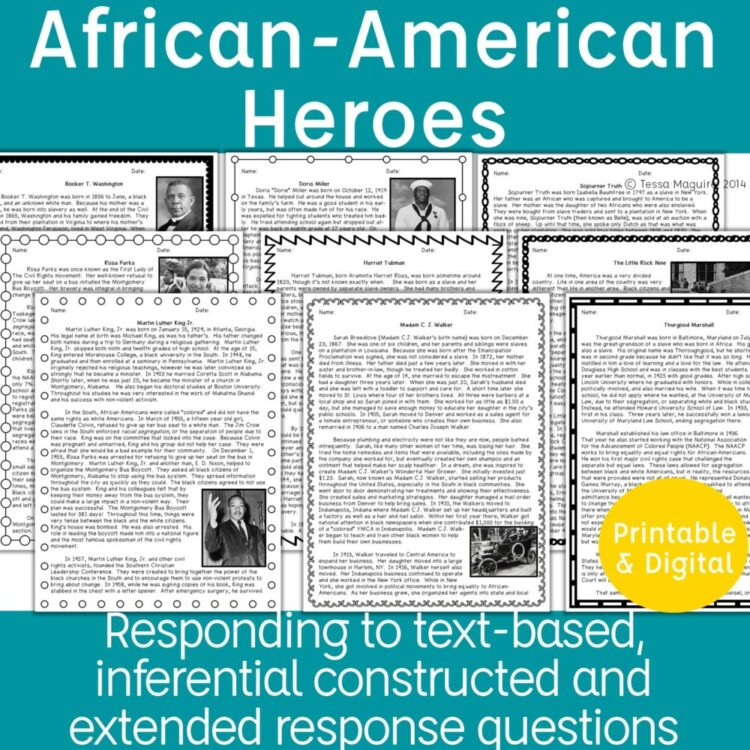African American Heroes comprehension