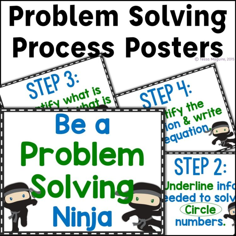 How to be a Problem Solving Ninja- Problem Solving Process Posters