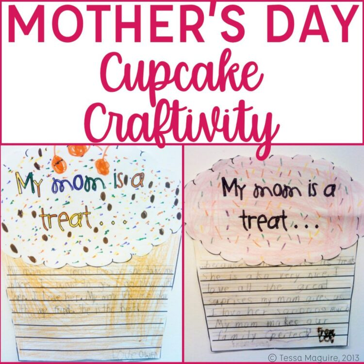 Mothers Day Cupcake Craft Cover