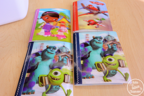 Use photo albums from the dollar store to keep your spelling lists at your word work center.