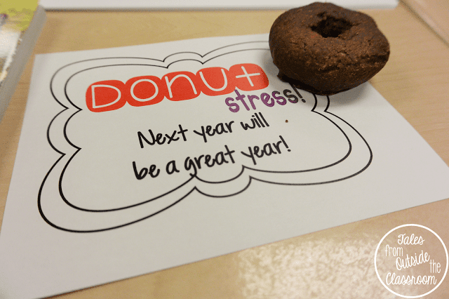Donut stress: Next year will be a great year tag with donut