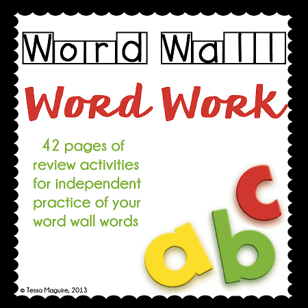 42 no-prep printable pages for reinforcing Word Wall Words.