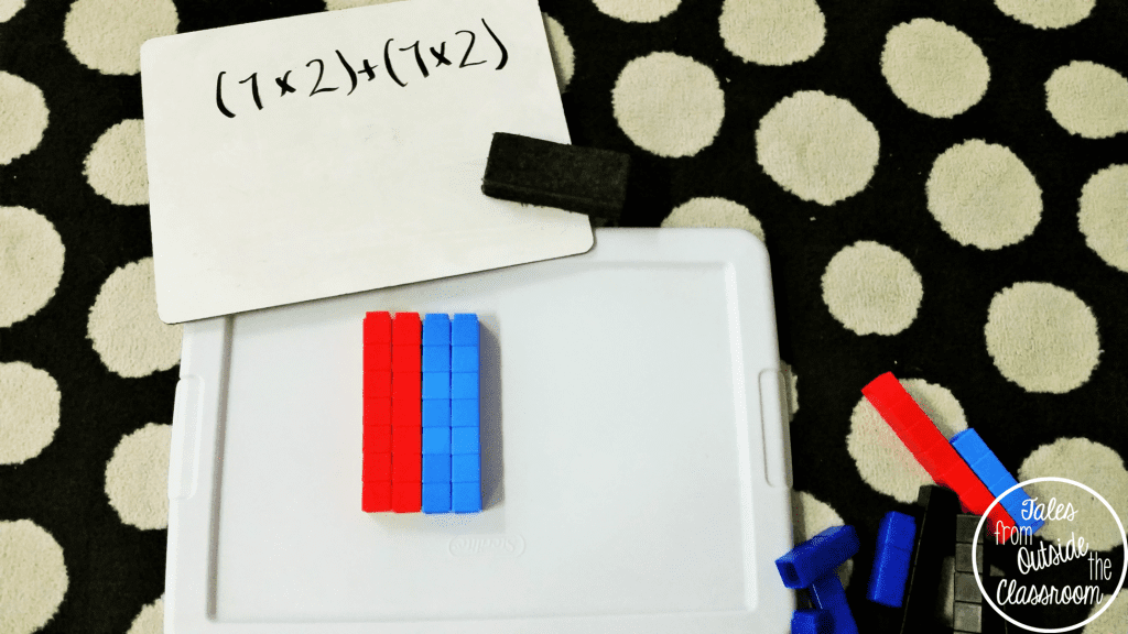 Distributive Property with Unifix Cubes