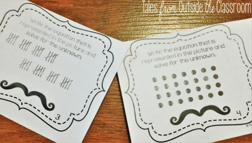 Multiplication and division with pictures and arrays task cards