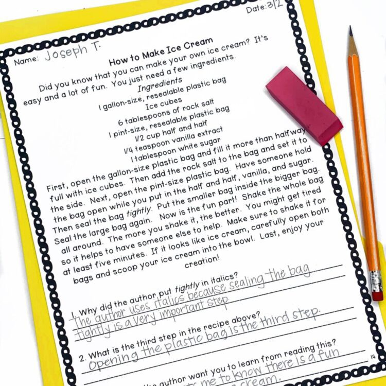 2nd Grade Reading Comprehension
