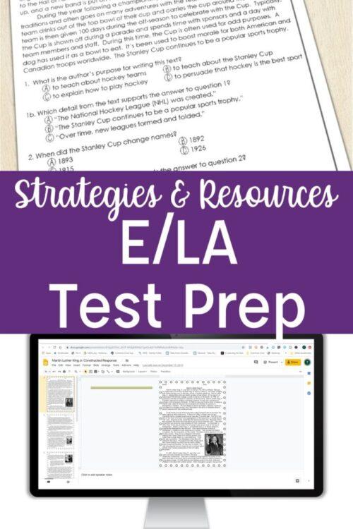 Strategies & Resources for E/LA test prep
