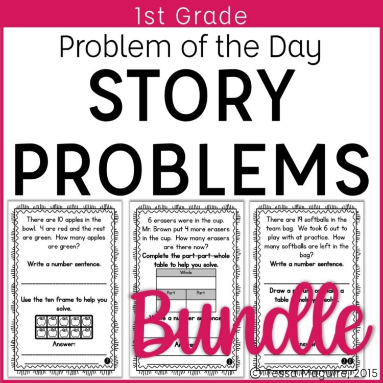 1st Grade Story Problems Cover