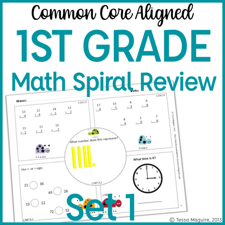 1st grade math warm up cover