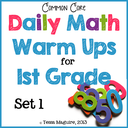 1st Math Warm Up Set 1