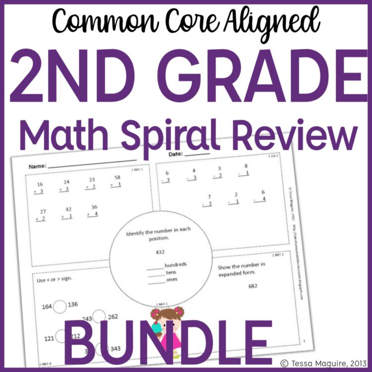 2nd Grade math warm ups cover