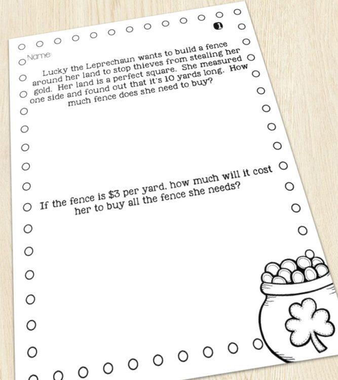 3rd grade story problem image