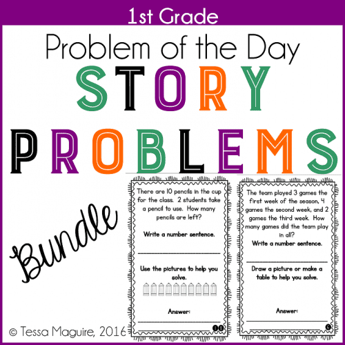 First Grade Story Problems Bundle
