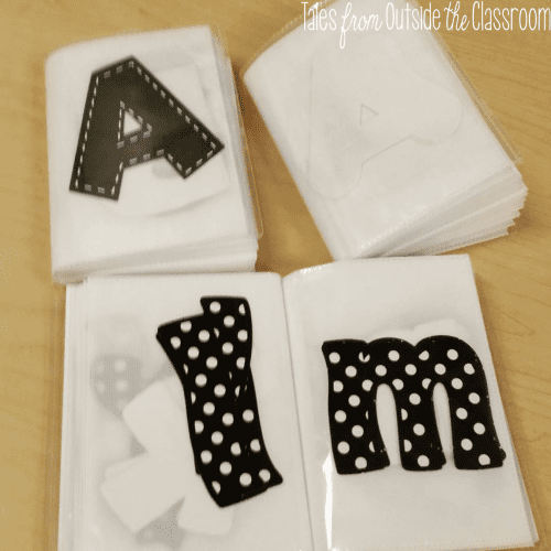 Cut out letter storage