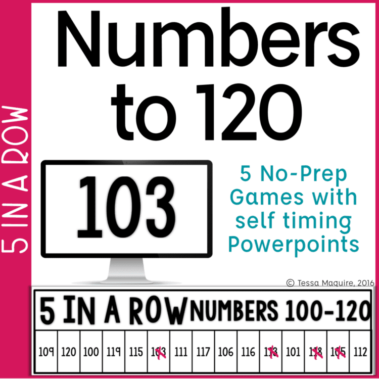 Number recognition to 120 game cover