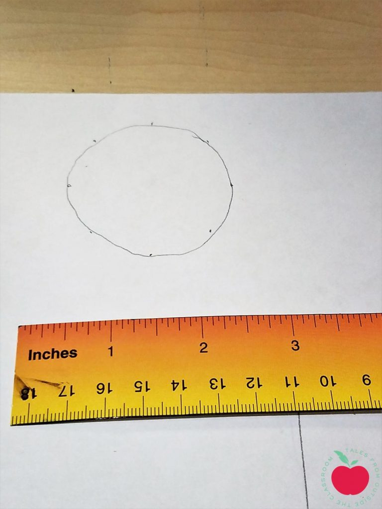 Circle with ruler