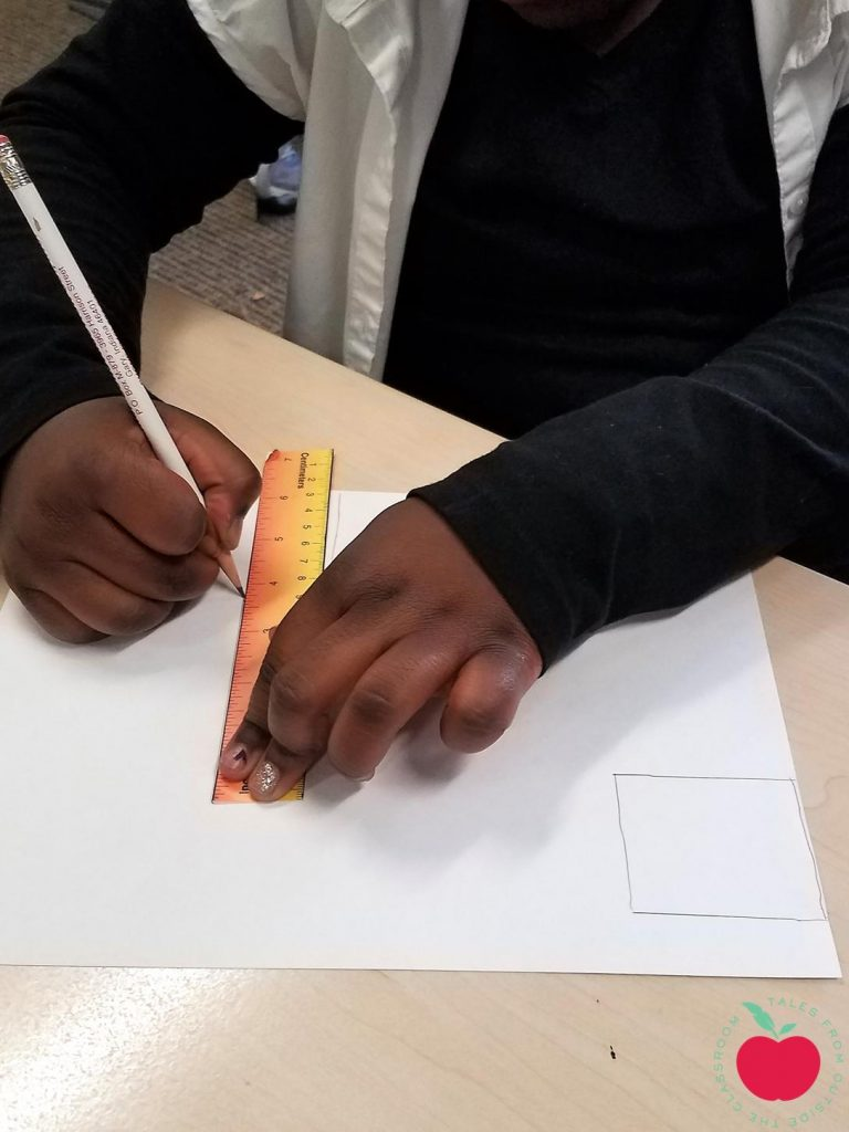 Drawing shapes with rulers