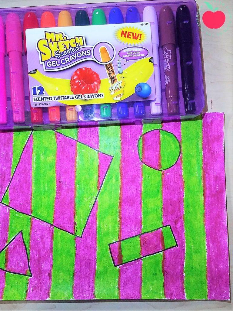 Op art with Mr Sketch Gel Crayons