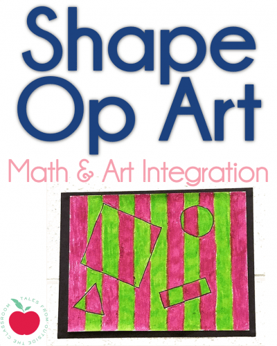 Shape Op Art integration project vertical