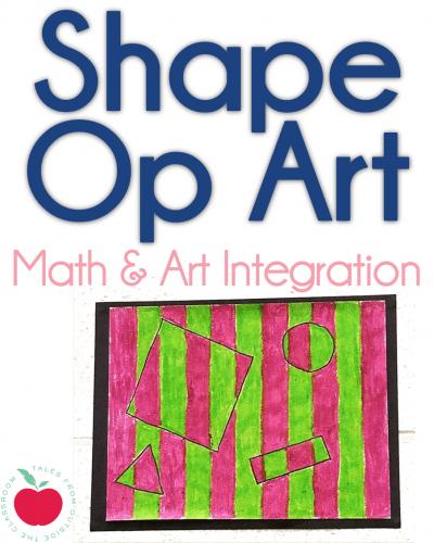 Shape Op Art integration project vertical