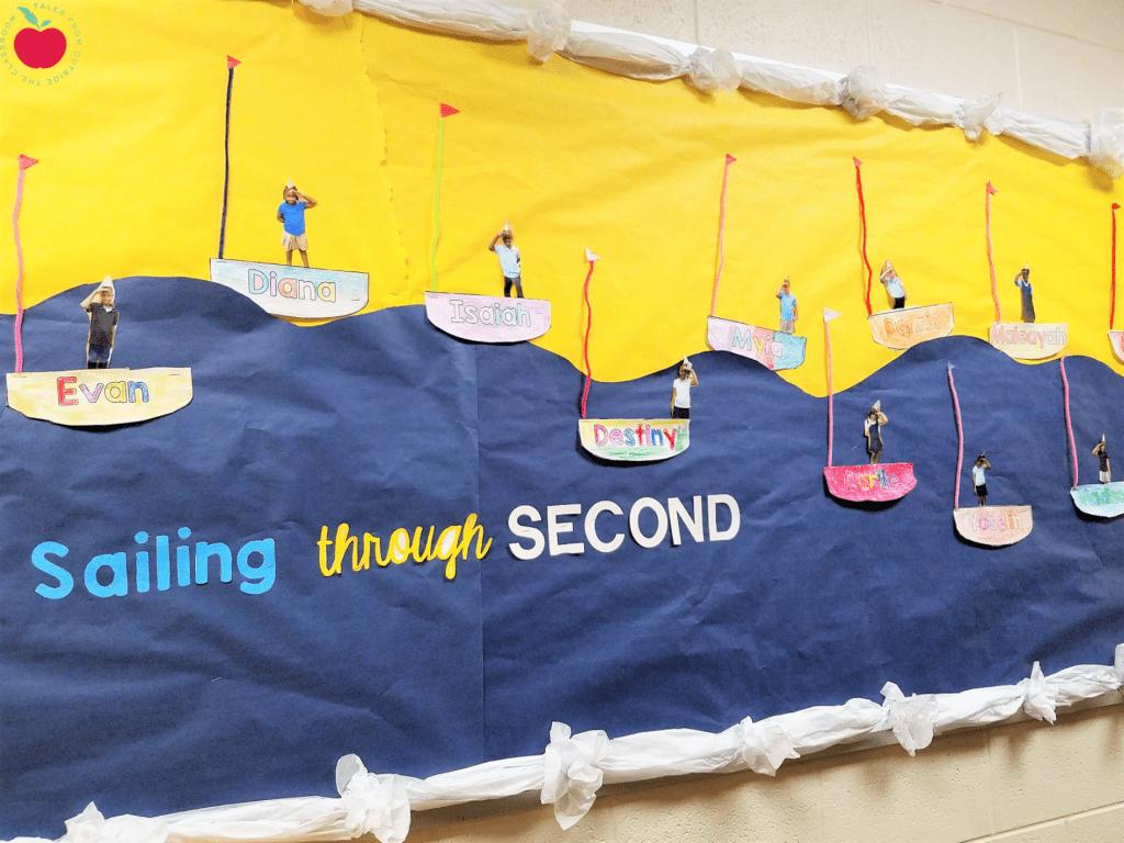 Sailing through Second Grade Bulletin Board