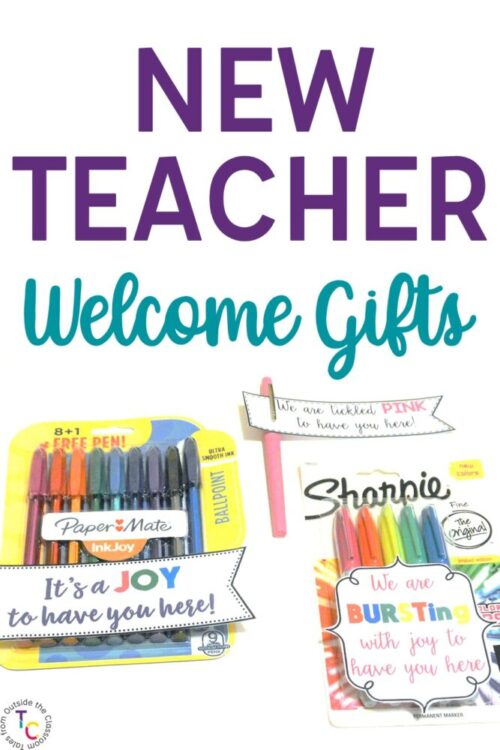 Gift tags for new teacher welcome gifts
