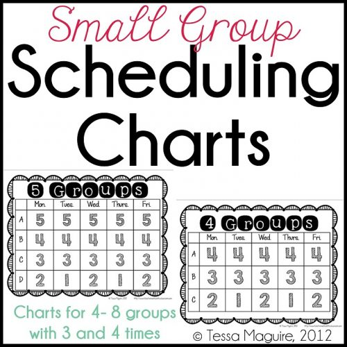 Group scheduling charts