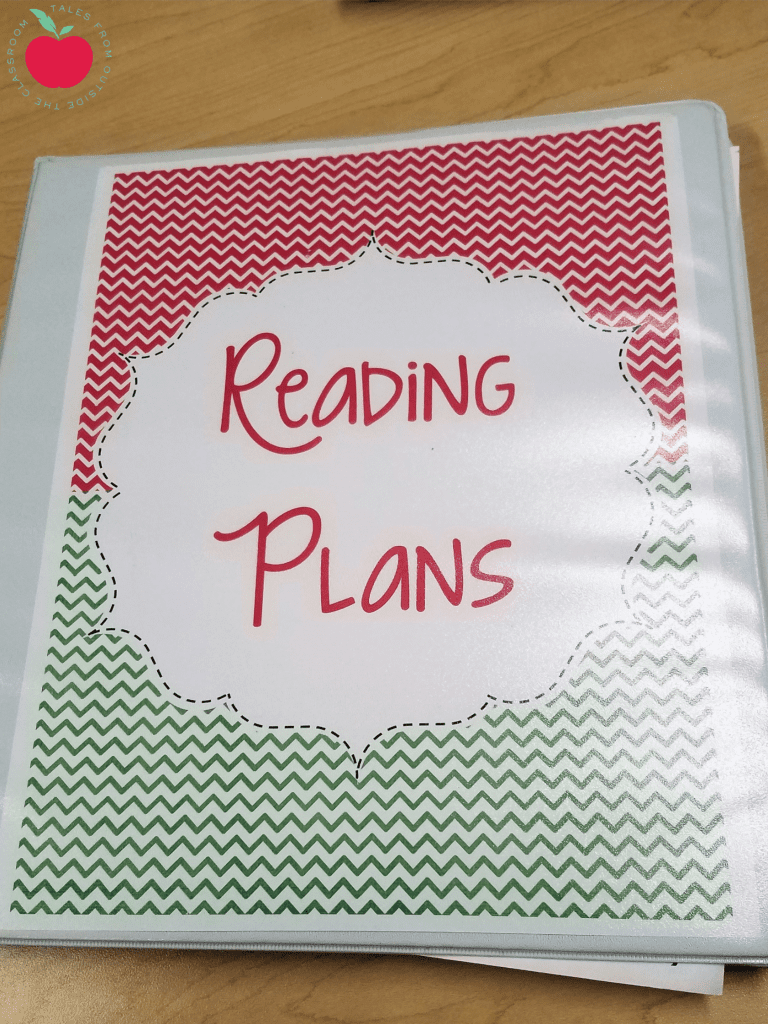Guided reading plan binder